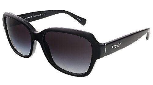 Coach Womens Sunglasses (HC8160) Black/Grey Acetate - Non-Polarized - 56mm
