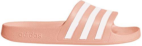 adidas Women's Adilette Aqua Sandal, dust Pink/White/dust Pink, 7 M US
