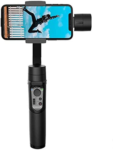 ビデオカメラサポート 携帯電話スタビライザー3軸ジャイロスコープ、ハンドヘルドPTZスタビライザー、防振、顔追跡機能付き、拡張可