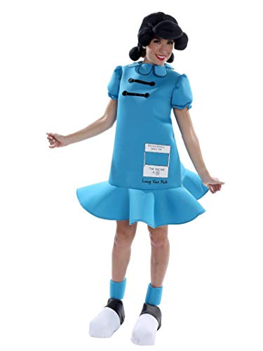 Characters From Charlie Brown - Palamon Women's Peanuts Lucy Costume, Blue,