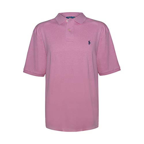 Polo Ralph Lauren Men Classic-Fit Mesh Polo (Large, Hampton Pink)