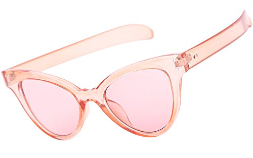 Beison Classic Womens Cat Eye Glasses Sunglasses Tinted Lens UV400 Protection (Pink frame / Pink lens, - Sunglasses Pink Framed