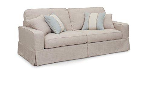 Sunset Trading American Slipcovered Sofa, 88″, Sofa in Linen