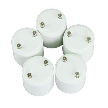 Tesoar® [Sales] 5-pack GU24 to E27 Adapters Converts Pin Base Fixture (GU24) to Standard Screw-in Bulb Socket(E27)