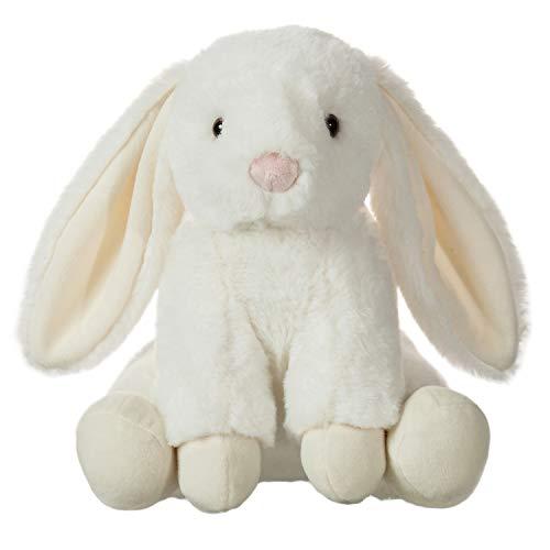 CharaHome Plush Floppy Ear Sitting Lovely Creamy Bunny Rabbit Stuffed Animal, Soft Cuddly, Perfect for Girls Boys Newborn, 10''