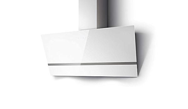 respekta Campana oblicua Campana extractora cabeza-libre Cristal 90 cm blanco Táctil LED: Amazon.es: Grandes electrodomésticos