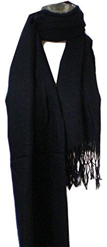 Premium Pashmina Shawl Wrap Scarf - Black