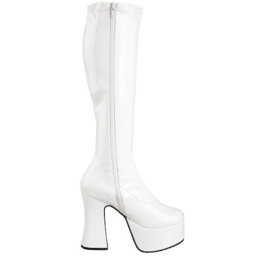 Demonia Slick-100 - Klassischer Stiefel Mujer Blanco