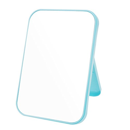 JOLY Tabletop Vanity Makeup Mirror 4 Color for You Choice (Blue) (Desk Mirror)