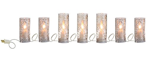 90'' Antiqued Lighted Pillar Candle Strand
