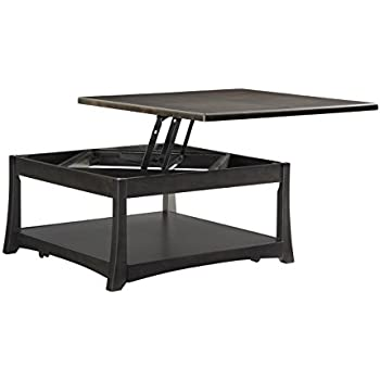 Ordinaire Somerton Dwelling 153D18 Novara Godio Square Lift Top Cocktail Table,  Charcoal