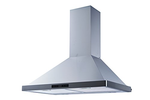 Winflo 30'' Wall Mount Stainless Steel Convertible Kitchen Range Hood with 450 CFM Air Flow, Touch Control, Aluminum Filters and LED Lights by Winflo (Image #4)
