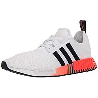 adidas Originals mens Nmd_r1 Sneaker, White/Black/Solar Red, 6.5 US
