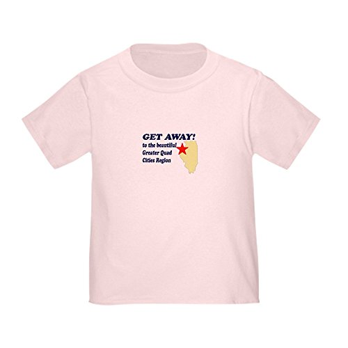 CafePress - Get Away to the Quad Cities Toddler T-Shirt - Cute Toddler T-Shirt, 100% (Chicago 100 Girls Quad)