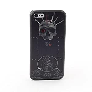 PEACH Skull Style Protective Back Case for iPhone 5C