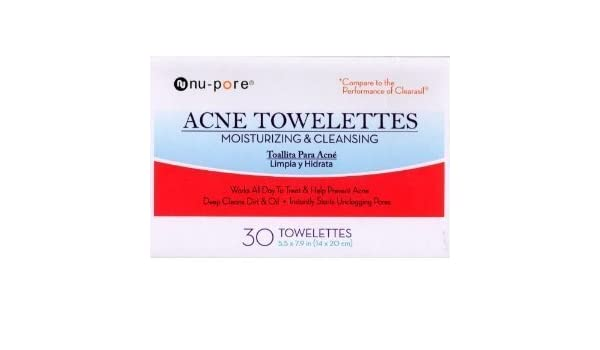 Amazon.com: Nu-pore Acne Towelettes Moisturizing & Cleansing 30 Count in Each BOX (2 Pack): Beauty