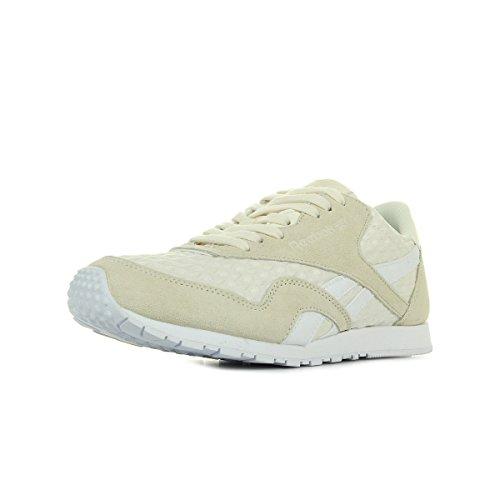 Slim Nylon Reebok Sneaker Scarpe Architect Donna Blanc CL 46xBvxXwq