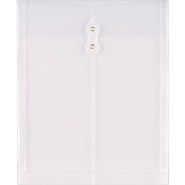 Staples Poly Envelopes w/Top Opening, Letter, Clear, 10/Pack