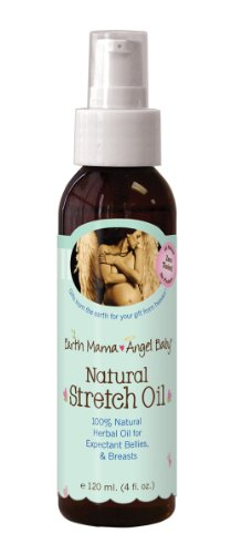 Earth Mama Angel Baby Oil stretch naturel, 4-once bouteille
