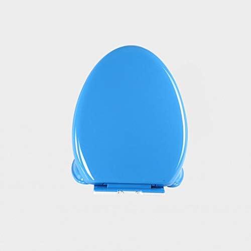 ポリプロピレンプラスチックソフトクローズイージーインストールコンフォートするために使用するシンプルで洗練されたメイド着色従来の便座 (Color : Blue, Size : V-058)