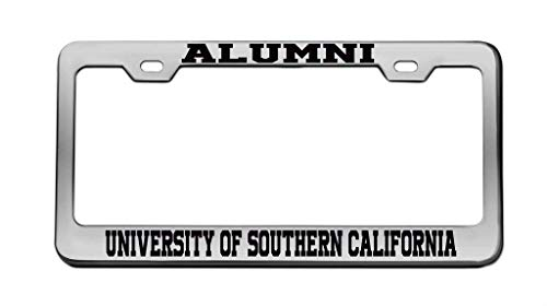 zhangjialicense Alumni UNIVERISY of Southern California University Aluminum License Plate Frame Tag Black 2 Holes and Screws