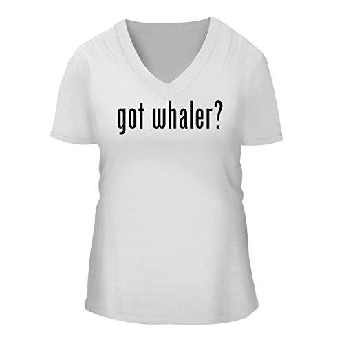 got whaler? - A Nice Women's Short Sleeve V-Neck T-Shirt Shirt, White, Large