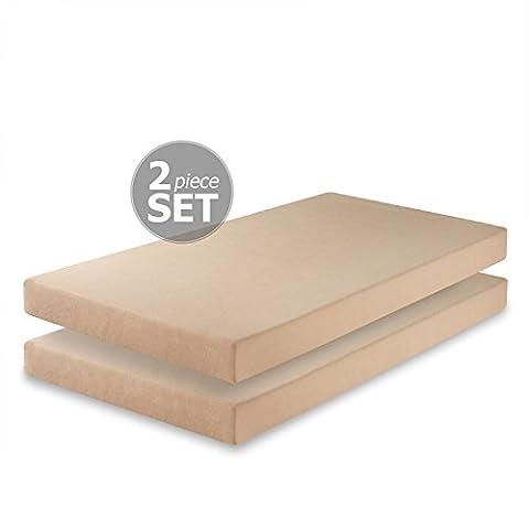 Zinus Memory Foam 5 Inch Twin Mattress, Set of 2 - 2 Free Mattresses