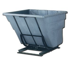 Midwest Factory Whse., Rubbermaid Self Dumping Hoppers, H1074-43, Casters: Yes, L X W X H: 83-1/2 X 55 X 56-1/2