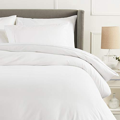 Pinzon Flannel Duvet Cover - Twin, White