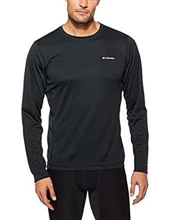 Columbia Men's Midweight II Long Sleeve Top, Black, Small