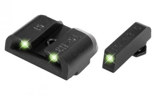 TRUGLO Tritium Pro Glock Low Set Night Sight, Black