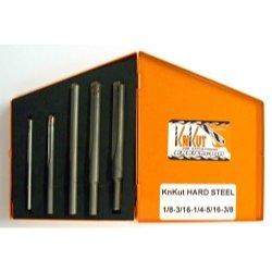 KnKut 5 Piece Carbide Tipped Hard Steel Drill Bit Set Tools Equipment Hand Tools