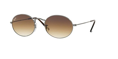 Ray-Ban RB3547N OVAL 004/51 54M Gunmetal/Crystal Brown Gradient Sunglasses For Men For Women