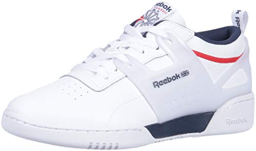 Reebok Men's Workout Advance Cross Trainer, White/Collegiate Navy/peri, 10 M US