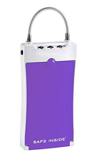 Safe Inside Portable Security Case Purple 4500R