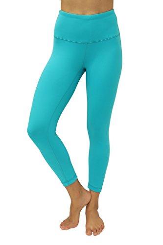 90 Degree By Reflex – High Waist Tummy Control Shapewear – Power Flex Capri-Seagreen-L