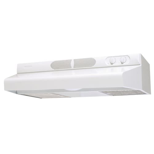 Air King ECQ24 270 CFM 24 Inch Wide Energy Star Certified Under Cabinet Range Ho, White by Air King