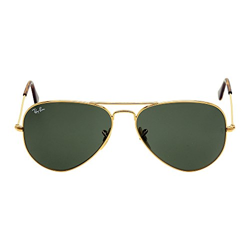 Ray-Ban Aviator Large Metal Sunglasses RB3025 181-58 - Gold Frame Dark Green