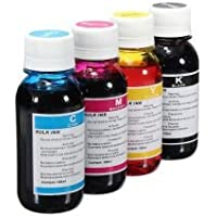 4 x 100ml Universal Refill Ink Bottles for HP, Brother, Lexmark, Samsung, Epson, Canon, Xerox, Kodak, Dell, Advent