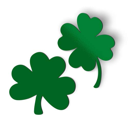 AK Wall Art Shamrocks Set of 2 Green - Magnet - Car Fridge Locker - Select Size ()