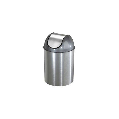 Umbra Nickel Trash Can (Umbra Swing Top Metal Mezzo 2-1/2 Gal Wastebasket)