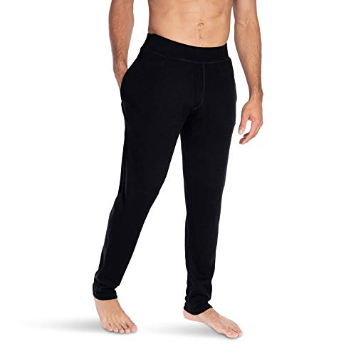 Woolly Clothing Men's Merino Wool Warm Up Sweatpant – Wicking Breathable Anti-Odor
