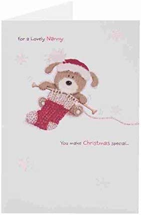 Cute Lots of Woof Merry Christmas New Gift Greeting Card One I Love