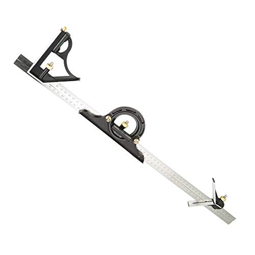Professional Adjustable Right Angle Ruler Combination Heavy Duty Engineer Measuring Tool Stainless Steel