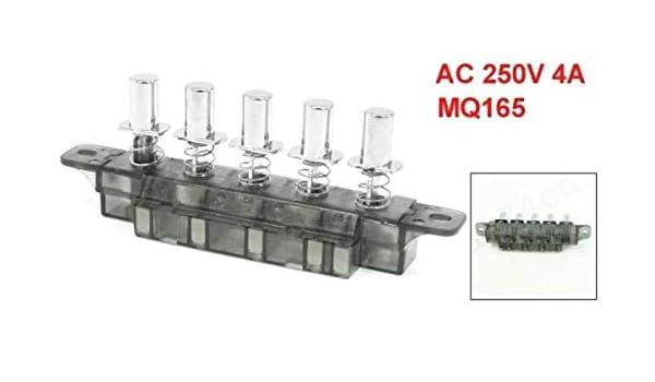 DULALA - Interruptor de 5 Botones pulsadores, Tipo Teclado, conmutador de Teclado para Campana extractora de Cocina (MQ165 AC 250 V 4 A): Amazon.es: Hogar