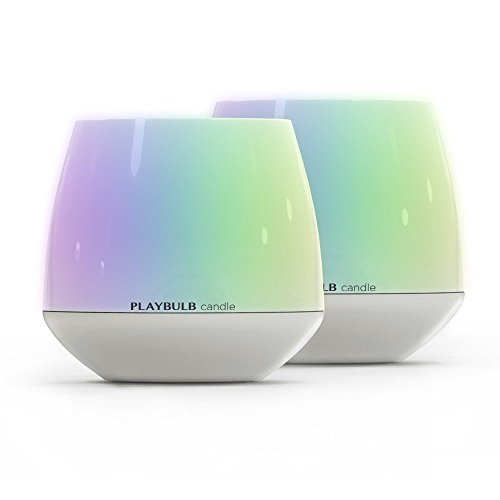 2-Pack PLAYBULB LED Candles Free App - Smart Bluetooth Color Changing Flameless Candles with Timer and APP Remote Control - for Kids/Party/Night Light/Candle Holder/Christmas/Wedding Decor