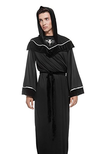 Adult Unisex Monk Halloween Religious Costume Priest Friar Dress Up & Role Play (Medium/Large, (Catolico Y Halloween)