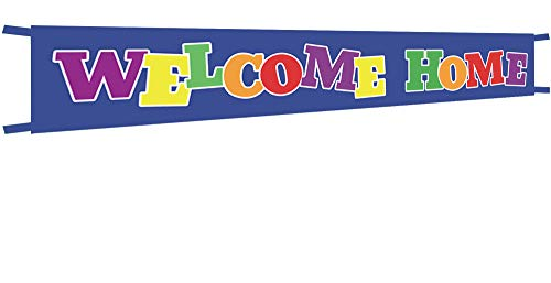 (Extra Large Welcome Home Banner,Welcome Home Bunting Banner,Homecoming Deployment Return Party Sign - 9.8 x 1.6)
