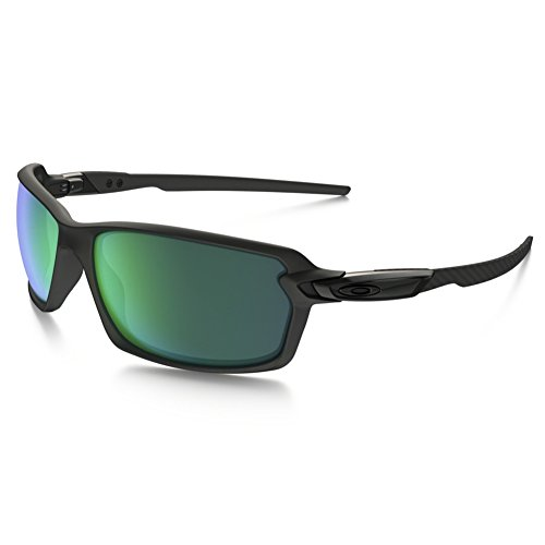 Oakley Men's Carbon Shift Non-Polarized Iridium Rectangular Sunglasses, Matte Black, 62.01 - Carbon Goggles Oakley Fiber