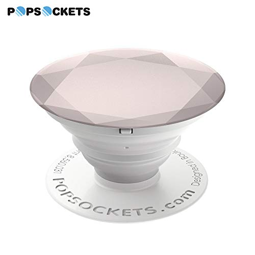 - PopSockets: Collapsible Grip & Stand for Phones and Tablets - Rose Gold Metallic Diamond